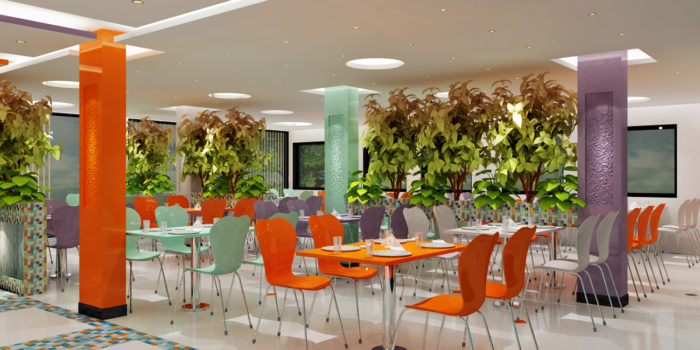 Interior design of office canteen (ROIIDS)