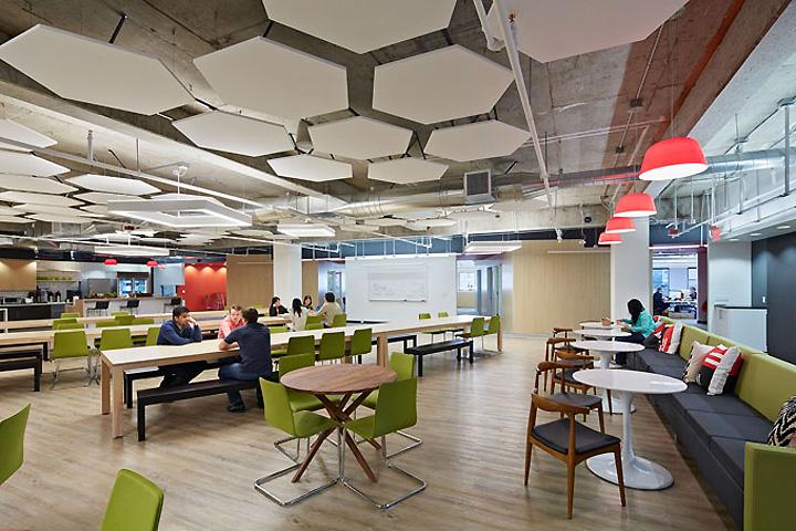 green cobalta workplace seating arrangement