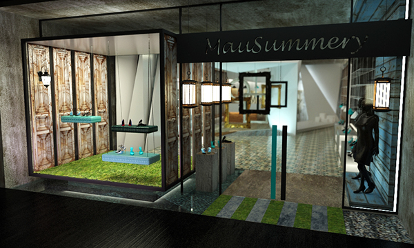 green cobalta retail entrance design